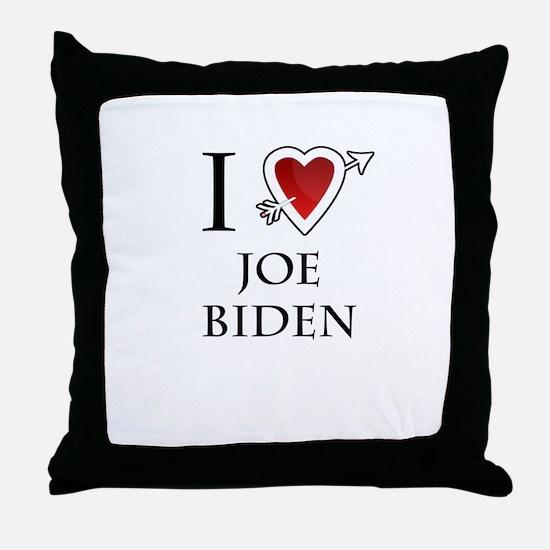i love Joe Biden heart Throw Pillow