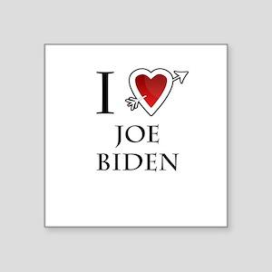"i love Joe Biden heart Square Sticker 3"" x 3"""