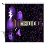 Dig The Purple Les Paul Shower Curtain