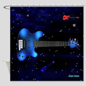 Big Blue Bass Shower Curtain