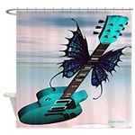 Flying Les Paul Shower Curtain