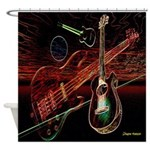 Space Guitars Shower Curtain