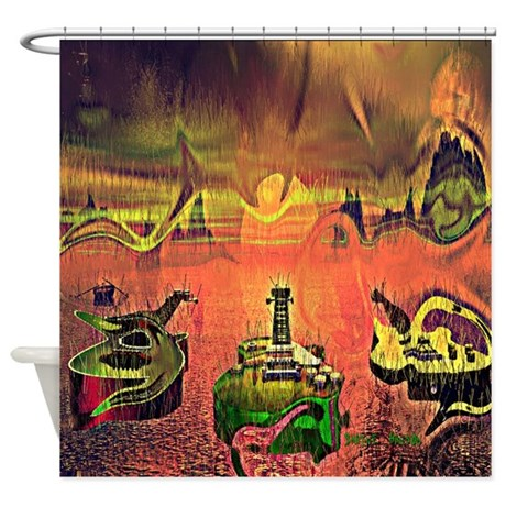 Guitars Out On Patrol Shower Curtain
