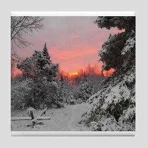 Winter Glow Tile Coaster