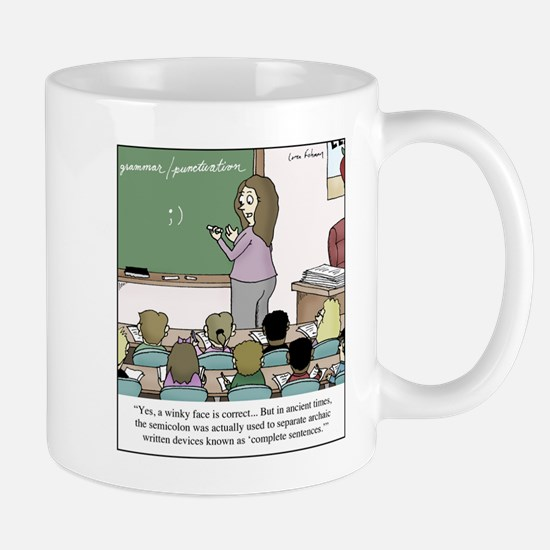 Using the Semicolon Mugs