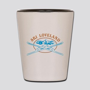 Loveland Crossed-Skis Badge Shot Glass