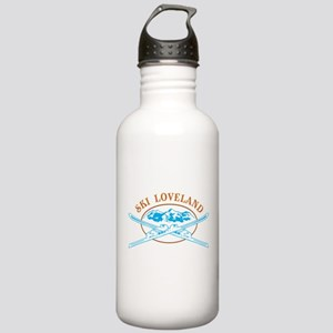 Loveland Crossed-Skis Badge Stainless Water Bottle