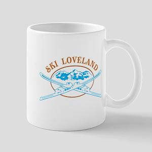Loveland Crossed-Skis Badge Mug