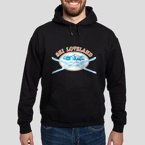 Loveland Crossed-Skis Badge Hoodie (dark)