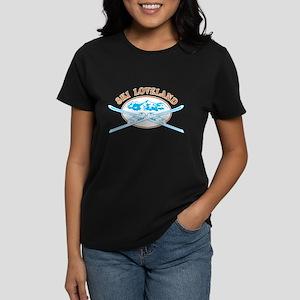 Loveland Crossed-Skis Badge Women's Dark T-Shirt