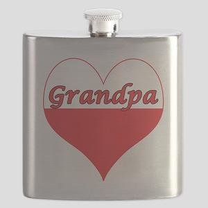 Grandpa Polish Heart Flask