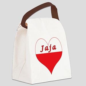 Jaja Polish Heart Canvas Lunch Bag