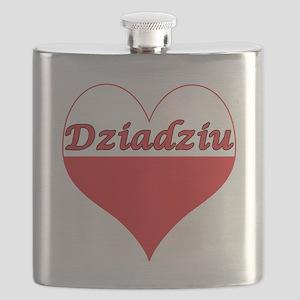 Dziadziu Polish Heart Flask