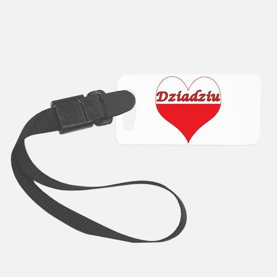 Dziadziu Polish Heart Luggage Tag