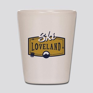 Ski Loveland Patch Shot Glass