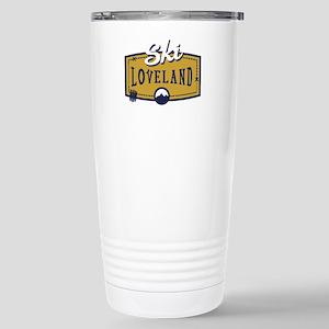 Ski Loveland Patch Stainless Steel Travel Mug