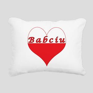 Babciu Polish Heart Rectangular Canvas Pillow