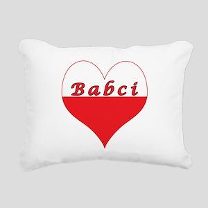 Babci Polish Heart Rectangular Canvas Pillow