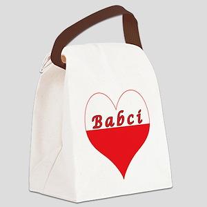 Babci Polish Heart Canvas Lunch Bag
