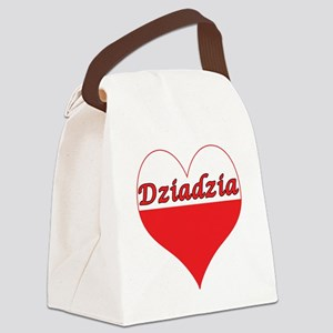 Dziadzia Polish Heart Canvas Lunch Bag