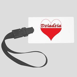 Dziadzia Polish Heart Large Luggage Tag