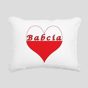 Babcia Polish Heart Rectangular Canvas Pillow