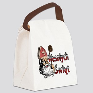 Wesolych Swiat St. Nicholas Canvas Lunch Bag