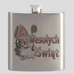Wesolych Swiat St. Nicholas Flask