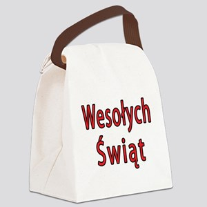 Wesolych Swiat Canvas Lunch Bag