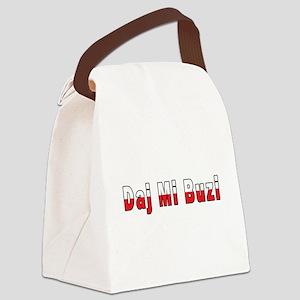 Daj Mi Buzi - Give me a Kiss Canvas Lunch Bag