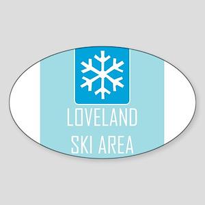 Loveland Snowflake Sticker (Oval)