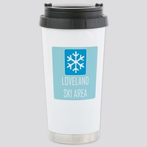 Loveland Snowflake Stainless Steel Travel Mug