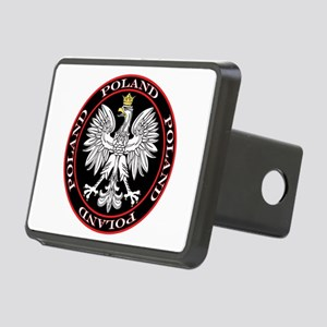 Poland Eagle Circle Rectangular Hitch Cover