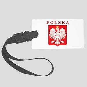 Polska Eagle Red Shield Large Luggage Tag