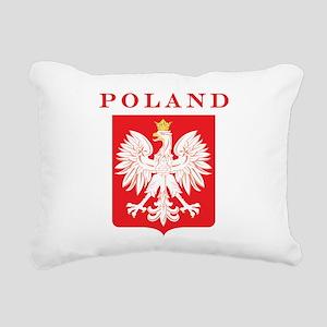Polish Eagle Red Shield Rectangular Canvas Pillow