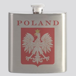 Polish Eagle Red Shield Flask