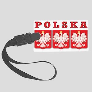 Polska Eagle Shields Large Luggage Tag