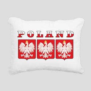Poland Eagle Shields Rectangular Canvas Pillow