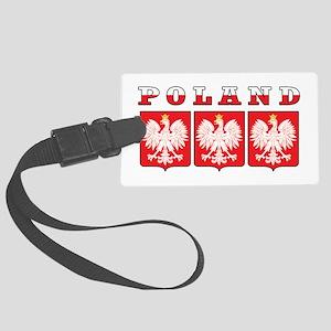 Poland Eagle Shields Large Luggage Tag
