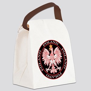 Round Polish Eagle Canvas Lunch Bag