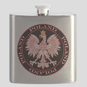 Round Polish Eagle Flask