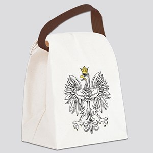 Polish Eagle With Gold Crown Canvas Lunch Bag