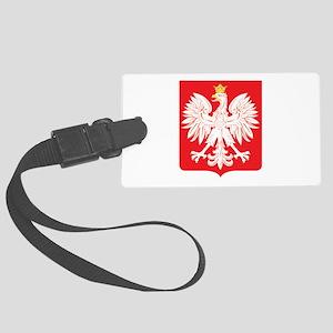 Polish Eagle Red Shield Large Luggage Tag