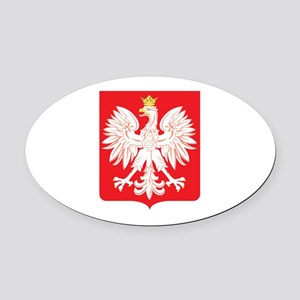 Polish Eagle Red Shield Oval Car Magnet