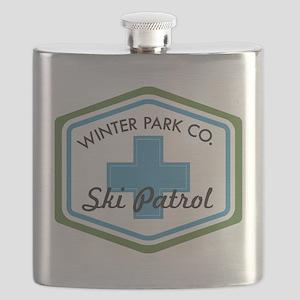 Winter Park Ski Patrol Patch Flask
