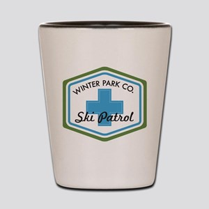 Winter Park Ski Patrol Patch Shot Glass