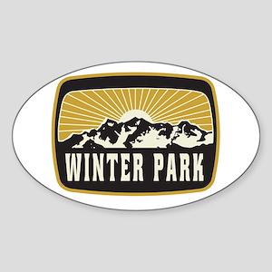Winter Park Sunshine Patch Sticker (Oval)