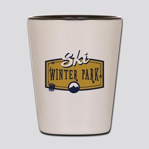 Ski Winter Park Patch Shot Glass