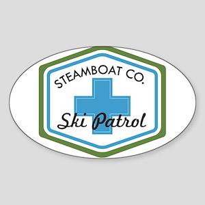 Steamboat Ski Patrol Patch Sticker (Oval)