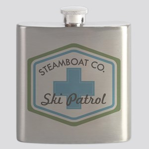 Steamboat Ski Patrol Patch Flask